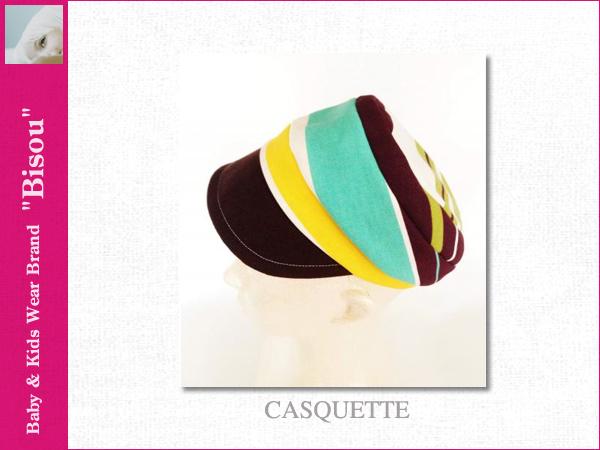 画像1: 【Bisou(ビズゥ)】CASQUETTE/ベビィ&キッズ用帽子