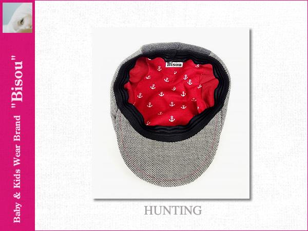 画像4: 【Bisou(ビズゥ)】HUNTING(グレー)/ベビィ&キッズ用帽子