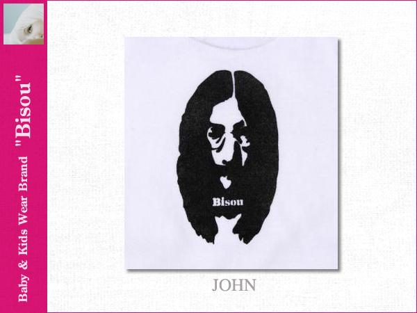 画像2: 【Bisou(ビズゥ)】JOHN(ホワイト)/ベビィ&キッズ用半袖Tシャツ